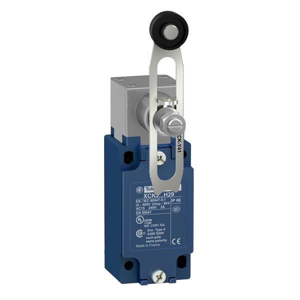 TELEMECANIQUE - interrupteur de position XCK-J - levier à galet réglable - 1 O + 1 F