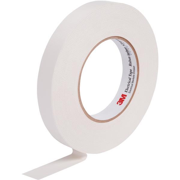 3M - 27 Scotch glasvezeltape met rubberlijm 12mm x 20m wit