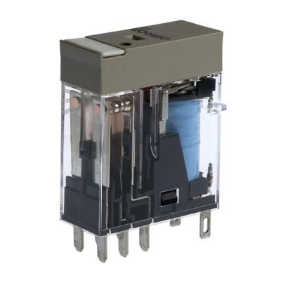 OMRON - Compact relais, naamplaat, mechanische indicator, led-indicatie, 24 VDC, 2NO/NC