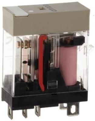 OMRON - Compact relais, naamplaat, mechanische indicator, led-indicatie, 230 VAC, 1NO/NC