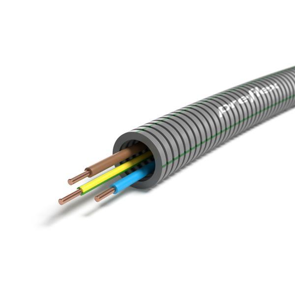 CABLEBEL - Preflex tube précâblé 16mm + VOB 3G1,5mm² rouleau 100m