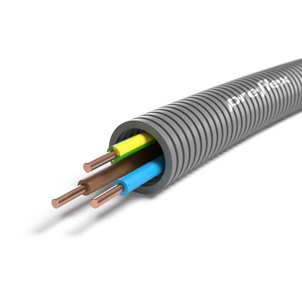 CABLEBEL - Preflex tube précâblé 20mm + VOB 3G6mm² rouleau 100m