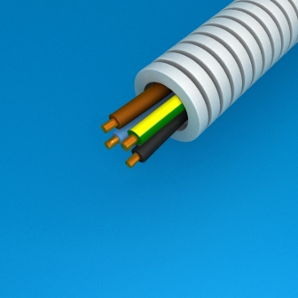 CABLEBEL - Preflex tube précâblé 16mm + VOB 4G2,5mm² rouleau 100m