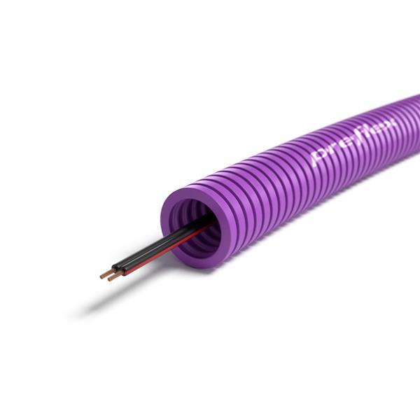 CABLEBEL - Preflex voorbedrade buis 16mm + luidsprekerkabel LS 2x0,75mm² rol 100m