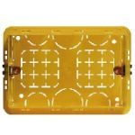 BTICINO - Boîte à encastrer pour 3 modules - rectangulaire - jaune - 106x71x52 mm