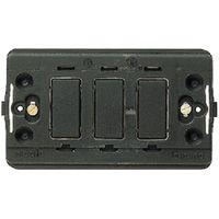 BTICINO - Modulehouder Magic - voor 3 modules - met schroeven