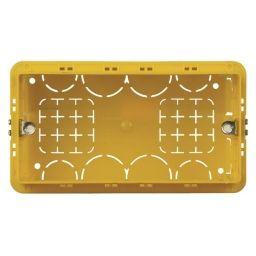 BTICINO - Boîte à encastrer pour 4 modules - rectangulaire - jaune - 130x71x52 mm