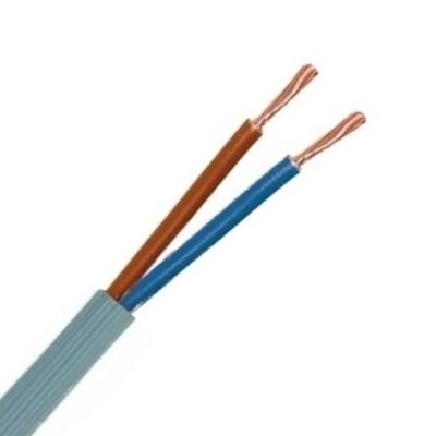 CABLEBEL - VTMB H05VV-F verbindingskabel PVC flexibel geribde mantel 500V grijs 2X2,5mm²