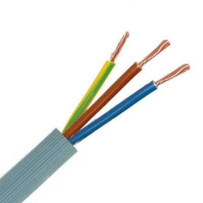 CABLEBEL - VTMB H05VV-F verbindingskabel PVC flexibel geribde mantel 500V grijs 3G2,5mm²