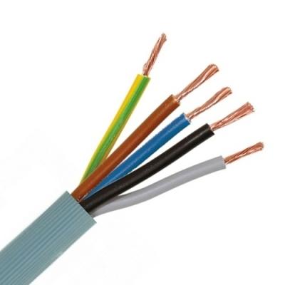 CABLEBEL - VTMB H05VV-F verbindingskabel PVC flexibel geribde mantel 500V grijs 5G1,5mm²