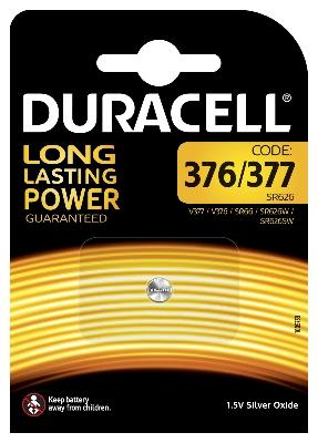 DURACELL - Pile Silver Oxide - 1,5V - 377 / D377 / V377 / SR66 - blister 1 pc.