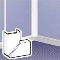 LEGRAND - Angle plat var. DLP 32x12,5 mm blanc RAL 9010 - 1 ou 2 comp.