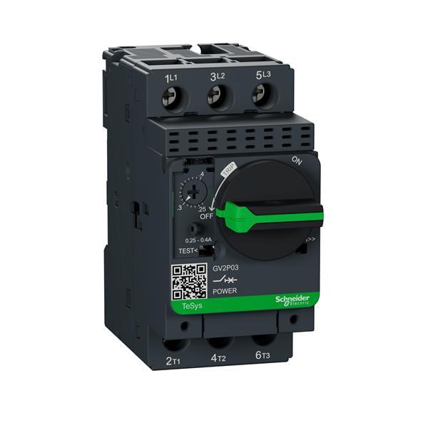 TELEMECANIQUE - motorbeveiligingsschakelaar GV2P - 0,25..0,4 A - 3P 3d - therm-magnetisch