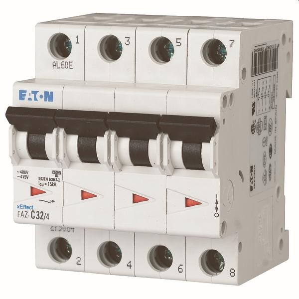 MOELLER - Installatieautomaat FAZ-C25/4 , C 25A , 4 Polig , 15 kA