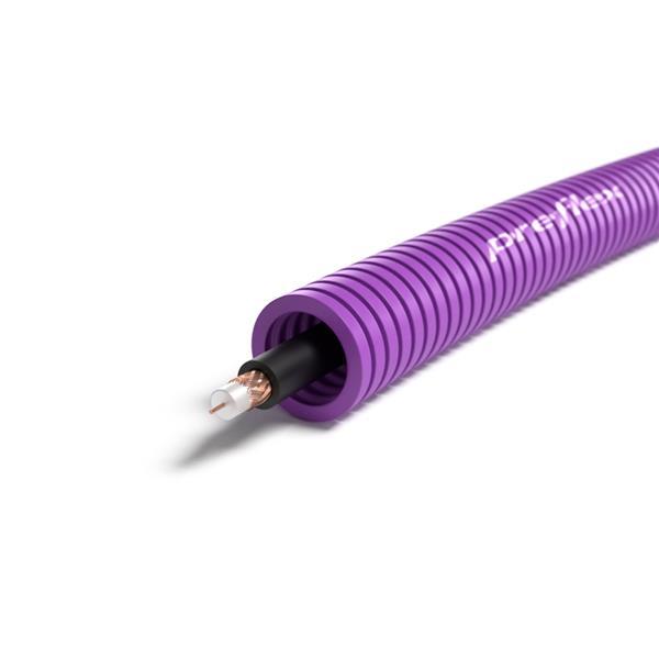 CABLEBEL - Preflex tube précâblé 16mm + coax RG59/BU rouleau 100m