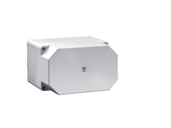 RITTAL - Polycarbonaat kast, 360x254x165mm BxHxD, RAL 7035, grijze deksel, zonder montage