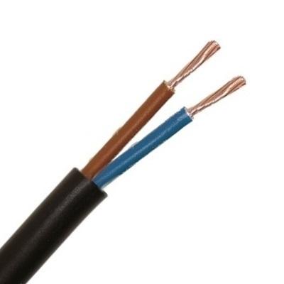 CABLEBEL - H05VV-F VTMB verbindingskabel PVC flexibel gladde mantel 500V zwart 2X1mm²