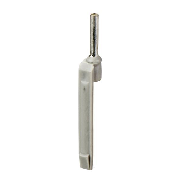 TELEMECANIQUE - Embout de câblage porte-repères - format moyen - 2,5 mm² - gris