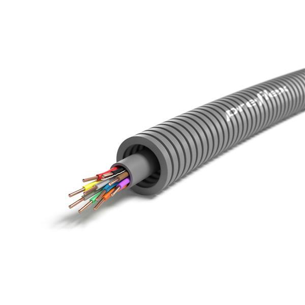 CABLEBEL - Preflex tube précâblé 16mm + SVV 10x0,8mm gris rouleau 100m
