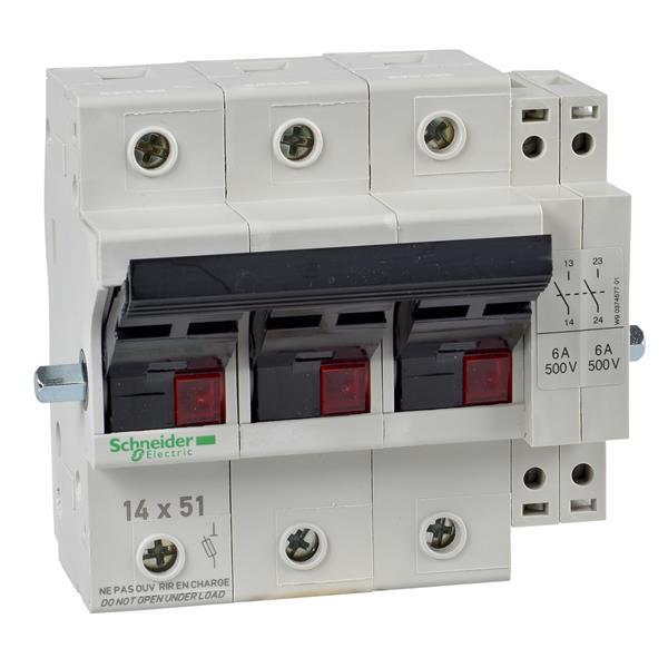 TELEMECANIQUE - Lichaam scheider met zekeringen - GK1 - 3P - 50A - voor zekering NFC 14 x 51mm