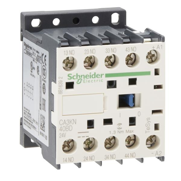TELEMECANIQUE - Hulpcontactor - 4NO + 0NC - 10A - 24V DC