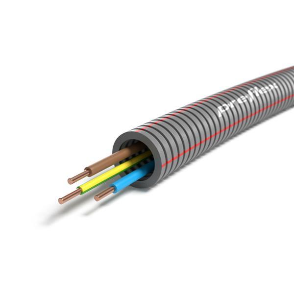 CABLEBEL - Preflex tube précâblé 16mm + VOB 3G2,5mm² rouleau 50m