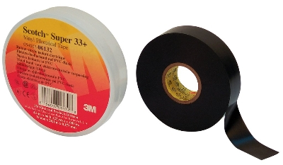 3M - Super 33+ Scotch TM elektrische isolatie tape PVC 19mm x 20m zwart