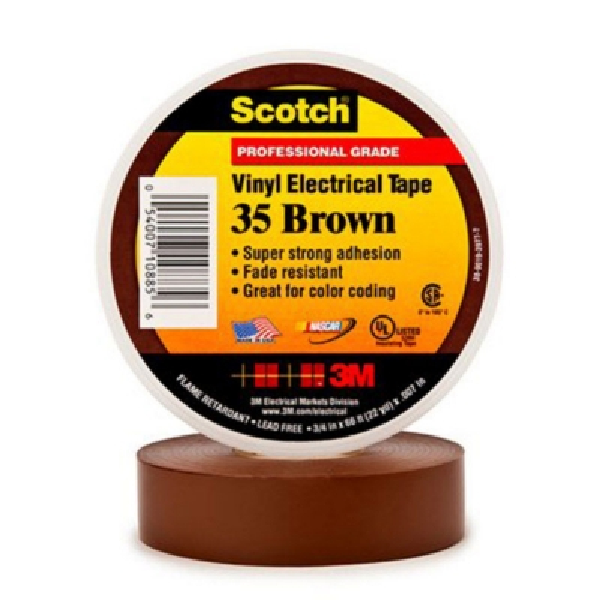 3M - 35 Scotch PVC tape bruin 19mm x 20m