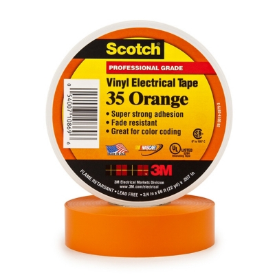 3M - 35 Scotch TM ruban isolant électrique PVC 19mmx20m orange
