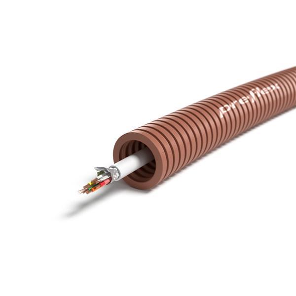 CABLEBEL - Preflex tube précâblé 16mm + câble d'alarme 4X0,22mm² rouleau 100m
