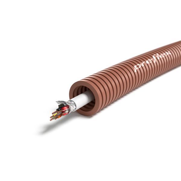CABLEBEL - Preflex voorbedrade buis 20mm + alarmkabel 10x0,22mm² + 2x0,75mm² rol 100m