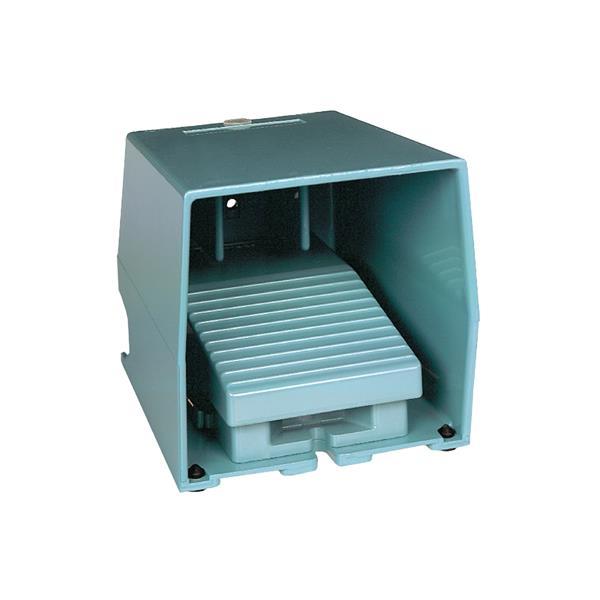 TELEMECANIQUE - Enkelvoudige voetschakelaar XPE-M - met beschermkap - metaal - blauw - 2NC+2NO