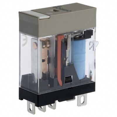 OMRON - Compact relais, naamplaat, mechanische indicator, led-indicatie, incl. diode