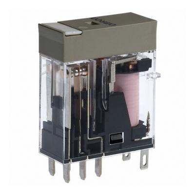 OMRON - Compact relais, naamplaat, mechanische indicator, led-indicatie, 230 VAC, 2NO/N