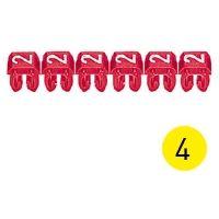 LEGRAND - CAB 3 merkteken - cijfer 4 geel - doorsnede 0,15-0,5 mm²