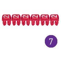 LEGRAND - CAB 3 merkteken - cijfer 7 violet - doorsnede 0,15-0,5 mm²