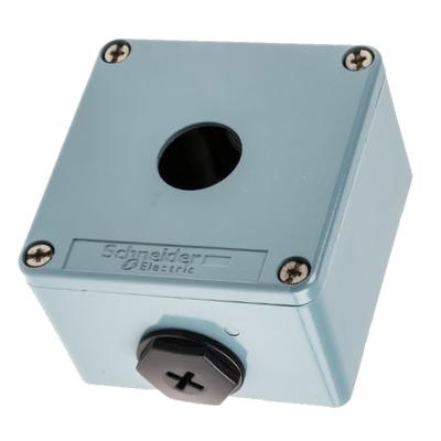 TELEMECANIQUE - Boîte à boutons vide - XAP-M - métallique - 1 perçage Ø22 - 80x80x49mm