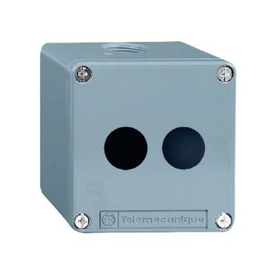 TELEMECANIQUE - Boîte à boutons vide - XAP-M - métallique - 2 perçages verticaux Ø22 - 80x80x49m