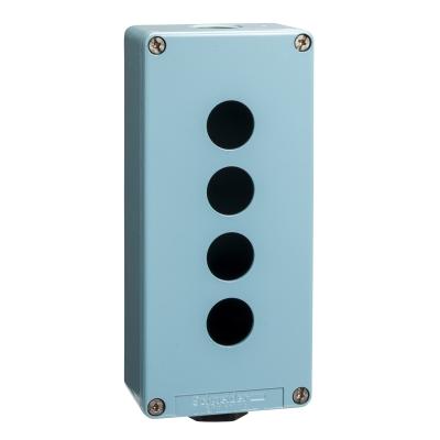 TELEMECANIQUE - boîte à boutons vide - XAP-M - métallique - 4 perçages horizontaux