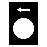TELEMECANIQUE - Etiket - 30 x 40mm - zwart - links of dalen, LS