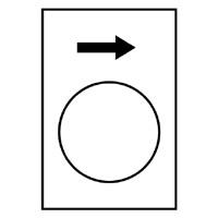 TELEMECANIQUE - Etiket - 30 x 40mm - wit - stijgen of rechts, LS