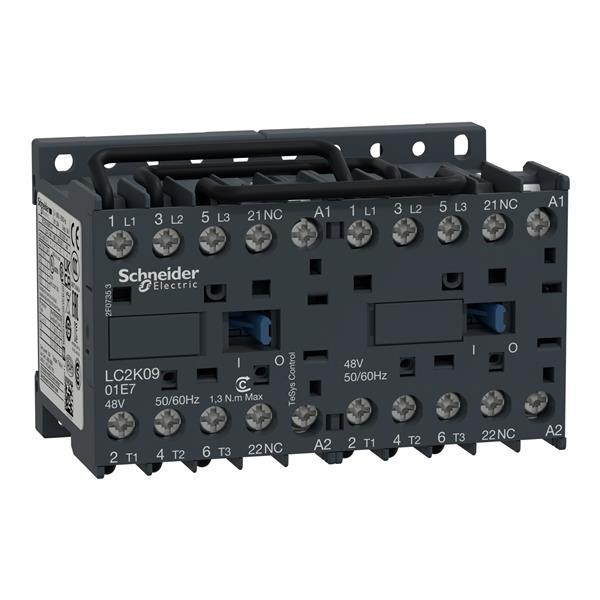 TELEMECANIQUE - Contacteur inverseur 9A AC-3 - 3P 1NC - 24V AC 50...60Hz