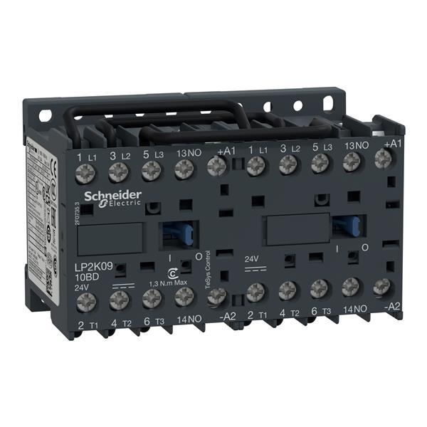 TELEMECANIQUE - Contacteur inverseur 9A AC-3 - 3P 1NO - 24V DC