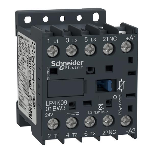 TELEMECANIQUE - contactor TeSys LP4-K - 3P - AC-3440 V 9 A - 24 V DC spoel