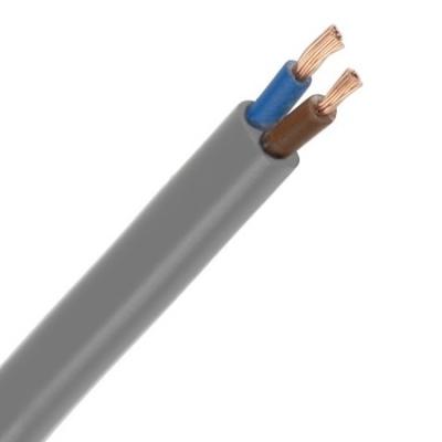 CABLEBEL - VTLBp H03VVH2-F câble de raccordement plat PVC souple 300V gris 2X0,75mm²