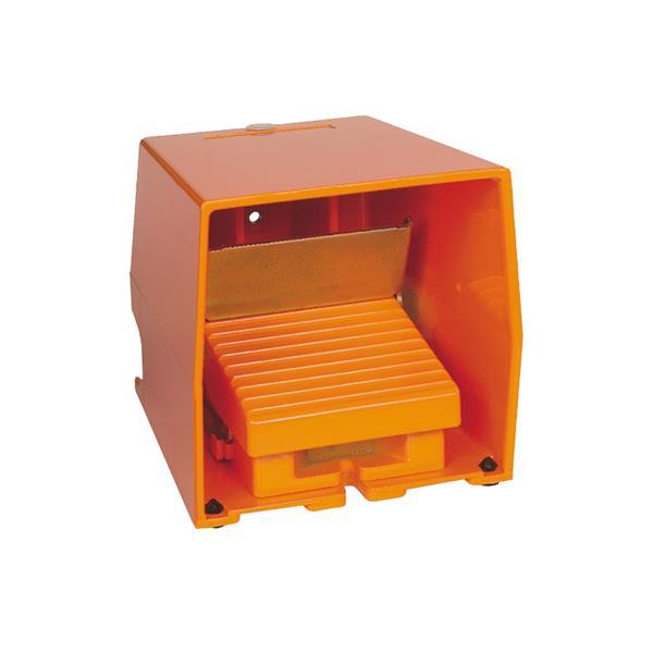 TELEMECANIQUE - Enkelvoudige voetschakelaar XPE-R - met beschermkap - metaal - oranje - 1NC+1NO