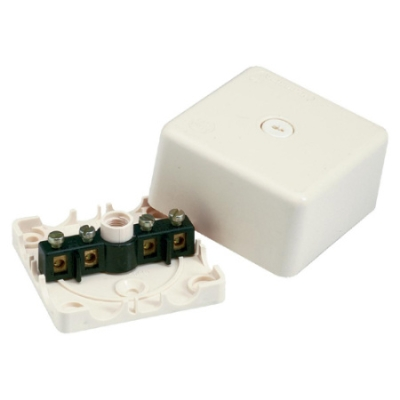 VYNCKIER - Boîte de dérivation 2,5mm² IP54 ivoire avec rosace à bornes