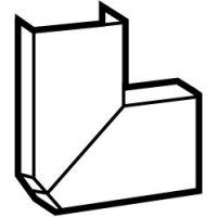 LEGRAND - Variabele platte hoek DLP lijst 20 x 12,5 mm - bruin