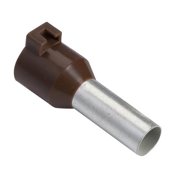 TELEMECANIQUE - Aangegoten draadhulsje voor markeringshouder - formaat lang - 10 mm² - bruin