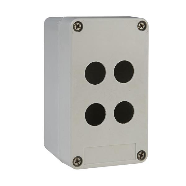 TELEMECANIQUE - boîte à boutons vide - XAP-A - plastique - 4 perçages en 2 colonnes